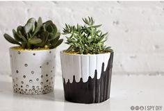 {DIY} les cache-pots Ikea passent au noir et blanc...