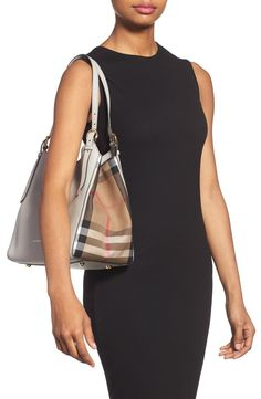 7a3007ad14b Burberry  Small Canterbury  House Check  amp  Leather Tote Canterbury House,  Baggage,