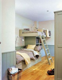 bunk. Maybe a sleepover room for kids.