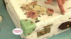 Reciclar Valijas Vintage - Estilo Shabby -  Craquelado - Martha Cacacio