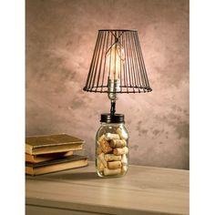 8' Cleveland Vintage Lighting Black Canning Jar Light Bulb Lamp Adapter with Pole Socket