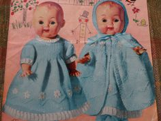 "Knitting Pattern Dolls Clothing To Fit 10-14"" size Doll 3 Ply Vintage by CraftybyLulu on Etsy"
