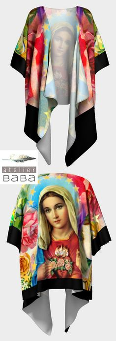 Our Lady of the Roses - Draped Silky Kimono by atelierbaba on Art of Where - Made in Canada. Very lovely...