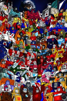 Transformers G1 Roster Poster.   Just about every Autobot from the tv series and more.