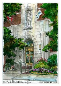 This artwork has been gifted to staff and retiring doctors for many years now. Hospital - Bond Street, Canada by Yonge Street, First Photograph, Canadian Artists, Floating Frame, Custom Art, Artist Art, Pet Portraits, Framed Art Prints, Amazing Art