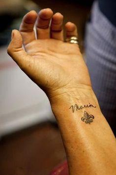 32 Best Fleur De Lis Wrist Tattoo Images Flowers Wrist Tattoo