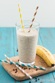 Skinny Banana Chip Smoothie - The Messy Baker Blog