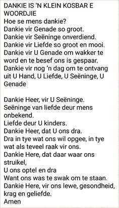 Dankie is ń kleine kosbare woord Prayer Verses, Prayer Quotes, Bible Verses Quotes, Tweety Bird Quotes, Baie Dankie, Afrikaanse Quotes, Uplifting Words, Good Night Sweet Dreams, Special Quotes