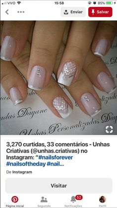 Glitter Nail Art, Fingers, Nail Designs, Instagram, Nails, Simple, Beauty, Dresses, Creative Nails