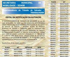 Multas em Salvador.BA: A Semob/Transalvador notificou condutores e abriu prazos para defesas e recursos contra multas de trânsito e indicação de condutor7455-0 29.1.16 +http://brml.co/1QWHWCL