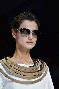 6a61235f9dcd Giorgio Armani at Milan Spring 2015 (Details) Cool Sunglasses