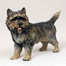 """Handpainted Brindle Cairn Terrier Figure, from Dogstuff.com. Handpainting gives character and realism to this series of cast-resin figurines. All figures in the series are approx. 4-5""""long."""