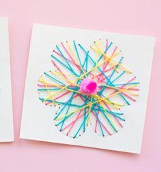 Virágos tavaszi fonalképek - képeslapok / Mindy -  kreatív ötletek és dekorációk minden napra