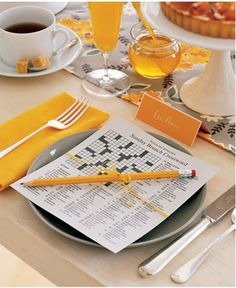 Cute place setting