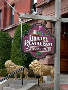 Library Restaurant, Portsmouth, NH.  One of the top three steaks I've ever had.  So delicious.