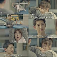 Descendants of the Sun. Korean Drama Funny, Korean Drama Series, Korean Drama Quotes, Desendents Of The Sun, Song Joong Ki Birthday, Song Joon Ki, Sun Song, Songsong Couple, W Two Worlds