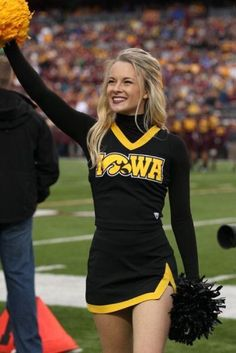 A look back at our 40 favorite cheerleaders from the 2013 college football season. They can cheer for us anytime! College Cheerleading, Cheerleading Pictures, Cheerleading Uniforms, College Football, Cheer Uniforms, College Cheer Hair, Iowa Hawkeye Football, Cheerleading Bows, Cute Girl Image