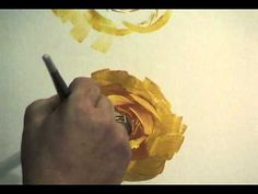 """A time lapse painting by Tim Gagnon. I reached into my imagination to create this painting which is titled """"Cutting Through Yellow Skies. Rose Oil Painting, Acrylic Painting Lessons, China Painting, Painting Videos, Acrylic Art, Tole Painting, Painting & Drawing, Watercolor Paintings, 7 Arts"""