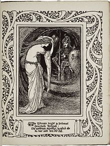 Britomart viewing Artegal (Crane, - The Faerie Queene - Wikipedia Vintage Illustration Art, Fantasy Illustration, History Of Literature, Walter Crane, Victorian Books, Ap Studio Art, Witch Art, Fairytale Art, Pretty Art