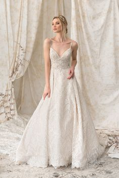 Chantilly Lace Ball Gown with Dramatic Cathedral Train