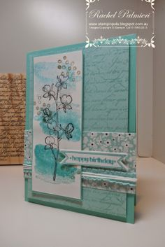 Rachel @ Stampin' Pals, en francais, Happy Watercolor, Itty Bitty banners