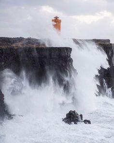 Stormy cliffs Iceland
