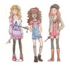 Hipster HP Gals by mox-ie.deviantart.com on @DeviantArt