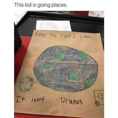 This kid is going places, but not to Uranus though