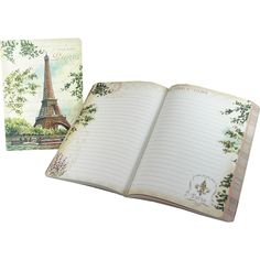 Eiffel Tower Painting Punch Studio Travel Soft Cover Journal
