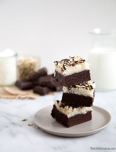 I hated Almond Joy candy bars as a kid. I figured it was about time I changed that. I took all the components of the classic candy bar and transformed them into these super rich Almond Joy Brownies! I was in second grade the first time I had an Almond Joy. My elementary school teacher …