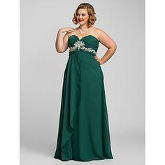 Plus Size Sheath/Column Sweetheart Chiffon Evening/Prom Dress – USD $ 179.99