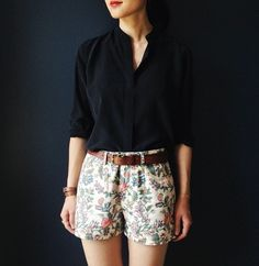 Summer shorts with print.