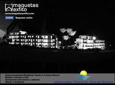 scale model edification 1:150 Miraflores Tennis & Leisure Resort  www.maquetasaxfito.com