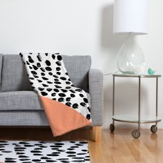 Rebecca Allen Animal And Peach Fleece Throw Blanket | DENY Designs Home Accessories