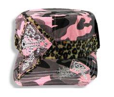 Pink Camo Hat Leopard Band Rhinestone Gothic Cross Castro Cadet Military Cap Camo Chique Boutique http://www.amazon.com/dp/B00J9YWI0I/ref=cm_sw_r_pi_dp_qQFpvb0XMZAXF