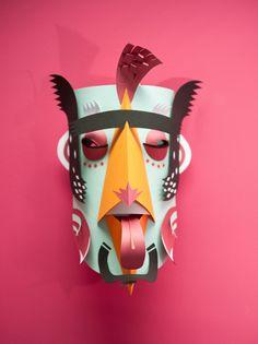 Graphical Carnaval- papercraft masks by INK studio, with participation of: - Julien Braeckvelt / n-d-d (www.n-d-d.be) - Yann Platis - Cédric Philippi / Cid (www.thecid.be) - Jessica Sieben - Kévin Stranart - Thibaut van Boxtel / Vébé (www.vebe.be) - William Mirante (www.mirante.be)