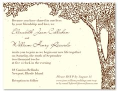 100% recycled invitations you can plant-they have wildflower seeds embedded in the paper. By ForeverFiances