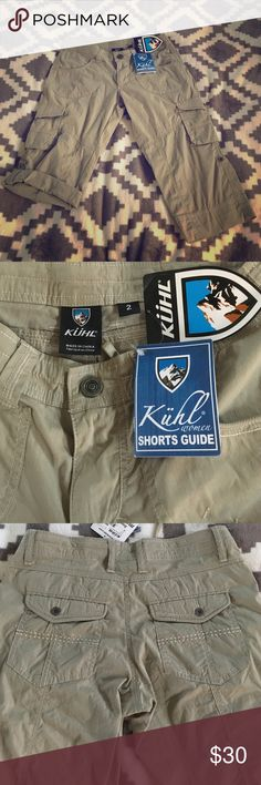 NWT KUHL kontra short Brand new Capri style can fold up a few more inch's see pic. Light weight cargo shorts great for hiking in hot and humid climates. Retail for 65 I bought on sale for 48 Kuhl Pants