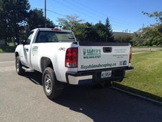 Easy and Effective cut vinyl on the back of this truck!  Well done Speedpro Imaging Oshawa/Durham!