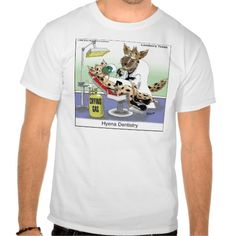 #Hyena #Dentistry #Tshirt by @LTCartoons #zazzle #dentist #nitrous #sale #gift #pinterest #ltcartoons