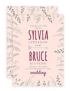 Free Nature Inspired Wedding Invitations Template #wedding #invitation #free printable #free template