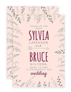 Free Nature Inspired Wedding Invitations Template #wedding #invitation #free printable #free template