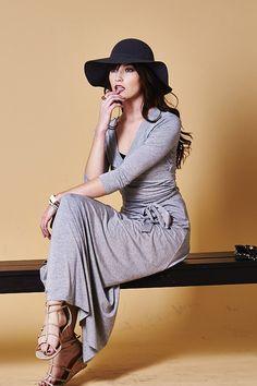 Madison Dress in Heather Gray on Emma Stine Limited