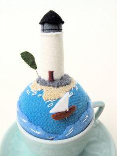 Lighthouse Tiny World Pincushion 2