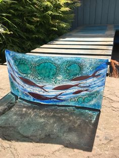 Your place to buy and sell all things handmade Fused Glass Art, Stained Glass, Water Animals, Ocean Art, Sea Creatures, Suncatchers, Art World, Tea Lights, How To Draw Hands