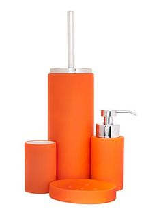 Yes to bringing in some colour e.g. orange bathroom accessories