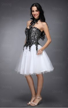 Multi Colours Ball Gown Knee-length Sweetheart Dress