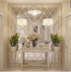 room decor designs for bathroom decor ideas that are comfortable and illustrate the beauty of geometric decor Hallway Decorating, Entryway Decor, Diy Room Decor, Decorating Your Home, Living Room Decor, Decorating Blogs, Interior Walls, Home Interior, Interior Modern