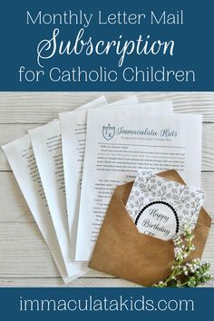 When you subscribe, you will receive a typewritten letter that will be packed in an envelope and mailed to you home. In addition to this, you will also receive an access link to a page filled with extra digital resources. #catholickids #catholic #catholicresources #monthlysubscription #raisingcatholics #youngcatholics #snailmail #catholicstories #catholichome #catholiclife #handmade #catholichome #theblessedmother #ourlady #mary #immaculatakids #motherofgod #marymymother #homeschool… Word Search Puzzles, Catholic Kids, Our Lady, Colouring Pages, Book Recommendations, Book Lists, Envelope, Homeschool, Mary