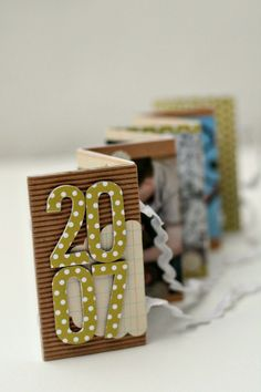 Pattern over pattern...horizontal  stripe, dots and a shape layered together.  Tutorial mini album